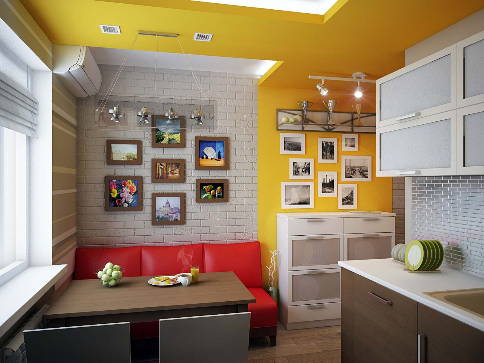 кухня 10 кв м с диваном фото