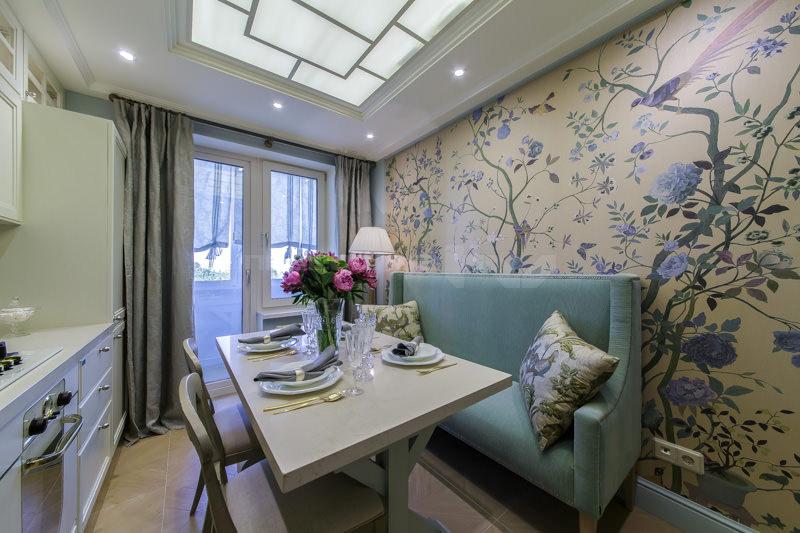 кухня 10 кв м с диваном идеи дизайн