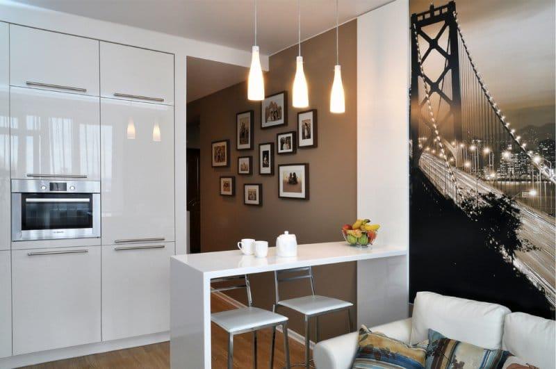 кухня 10 кв м с диваном интерьер фото