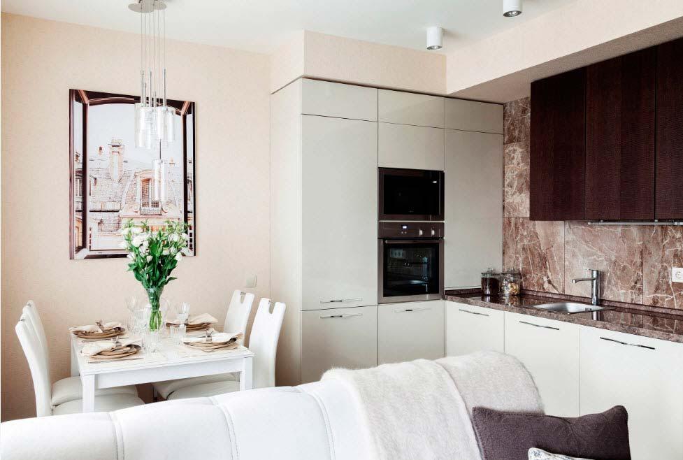 кухня 10 кв м с диваном интерьер идеи