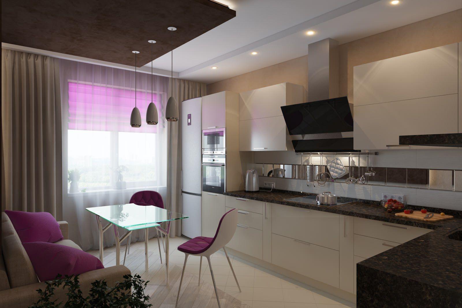 кухня 10 кв м с диваном интерьер