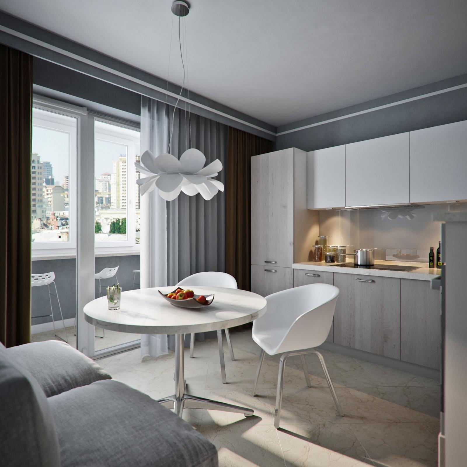 кухня 10 кв м с диваном оформление