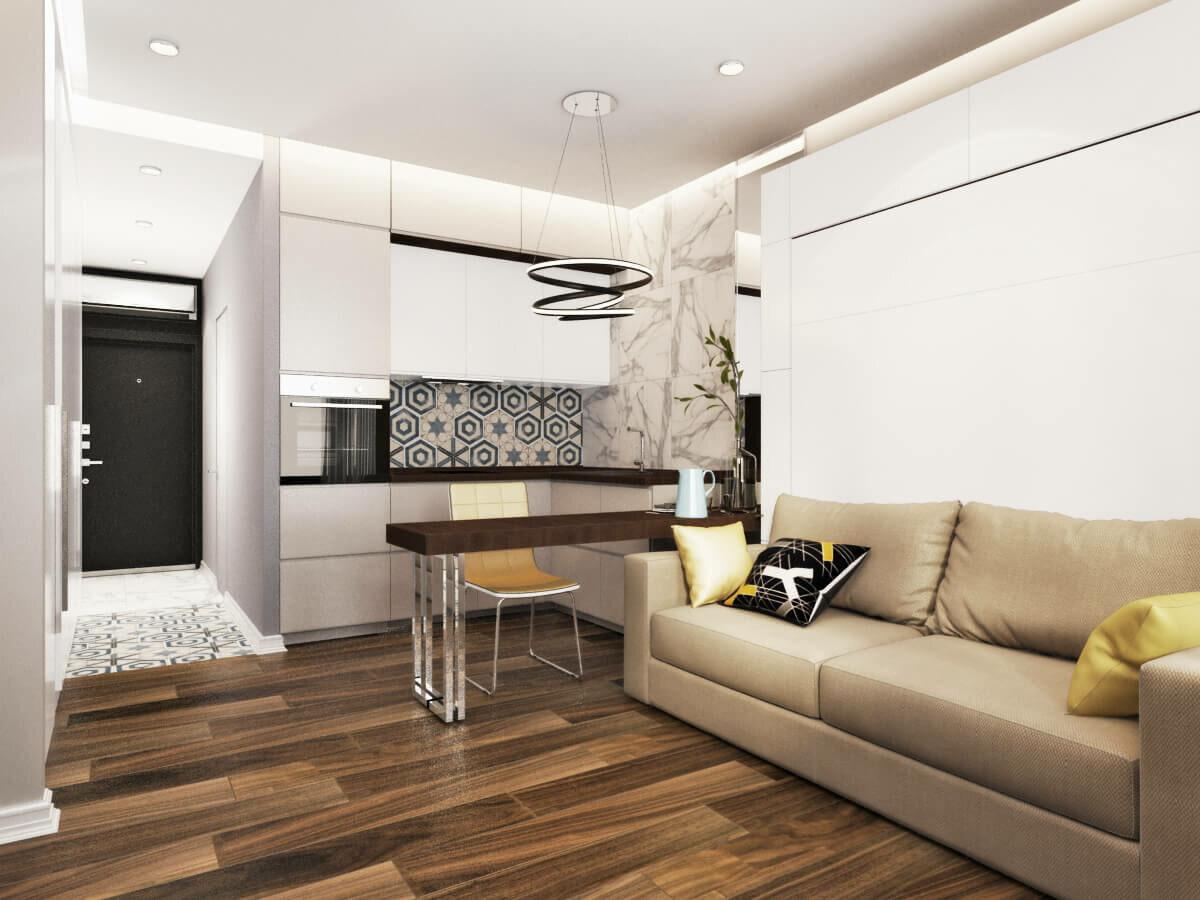 кухня 15 кв м с диваном декор