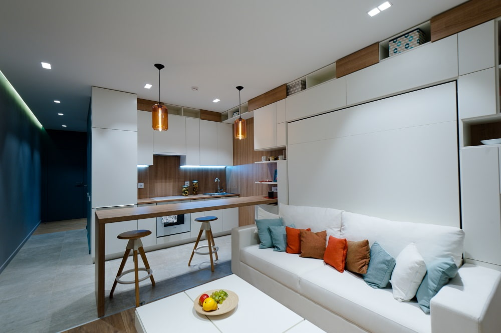 кухня 15 кв м с диваном дизайн идеи