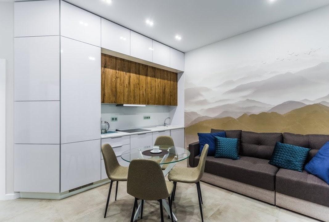кухня 15 кв м с диваном фото декор