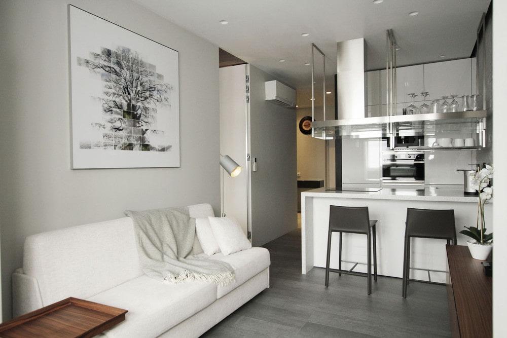 кухня 15 кв м с диваном фото декора