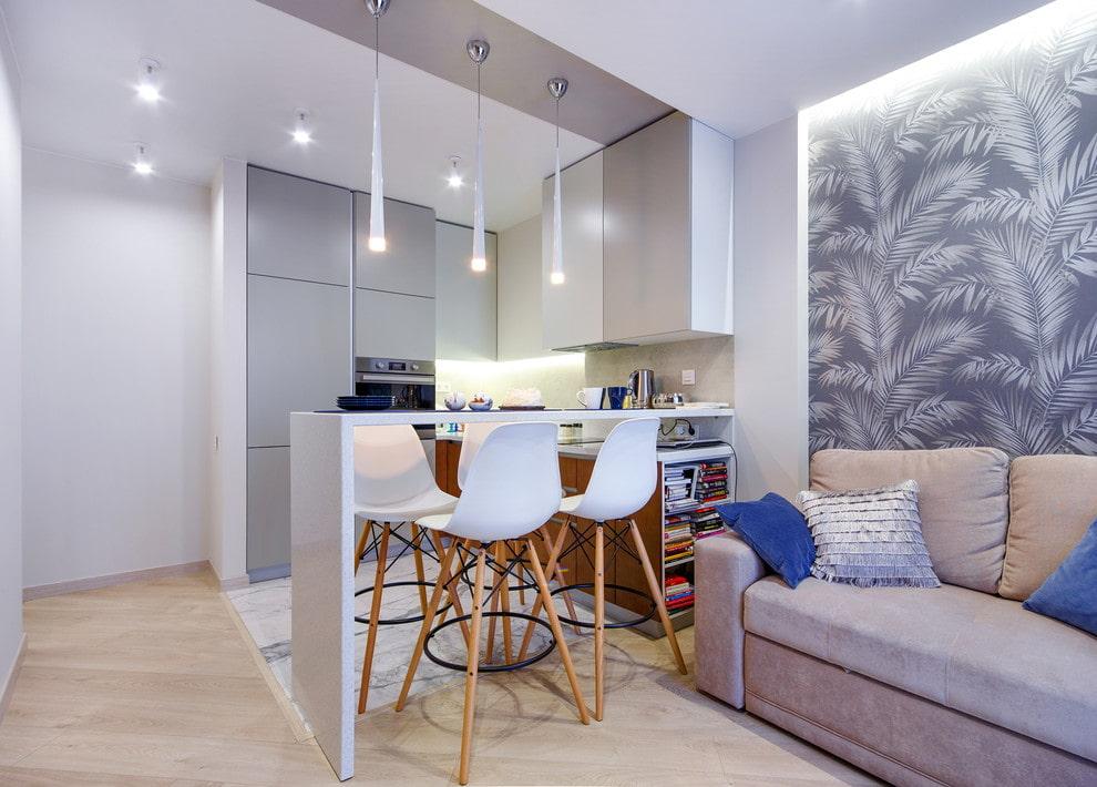 кухня 15 кв м с диваном фото дизайн