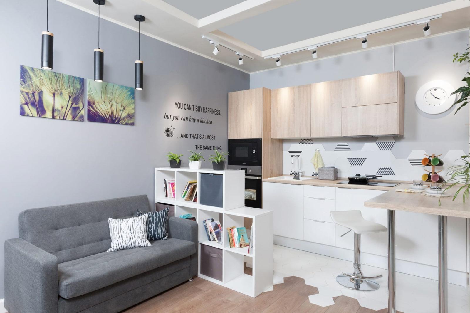 кухня 15 кв м с диваном фото дизайна