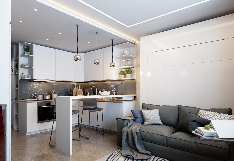 кухня 15 кв м с диваном фото идеи