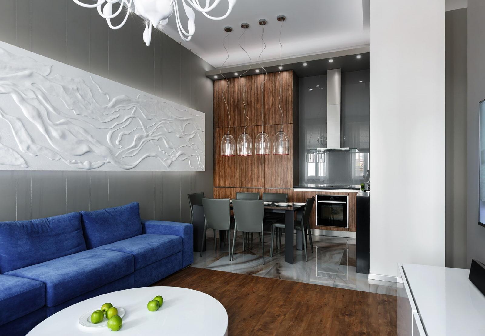 кухня 15 кв м с диваном фото интерьер