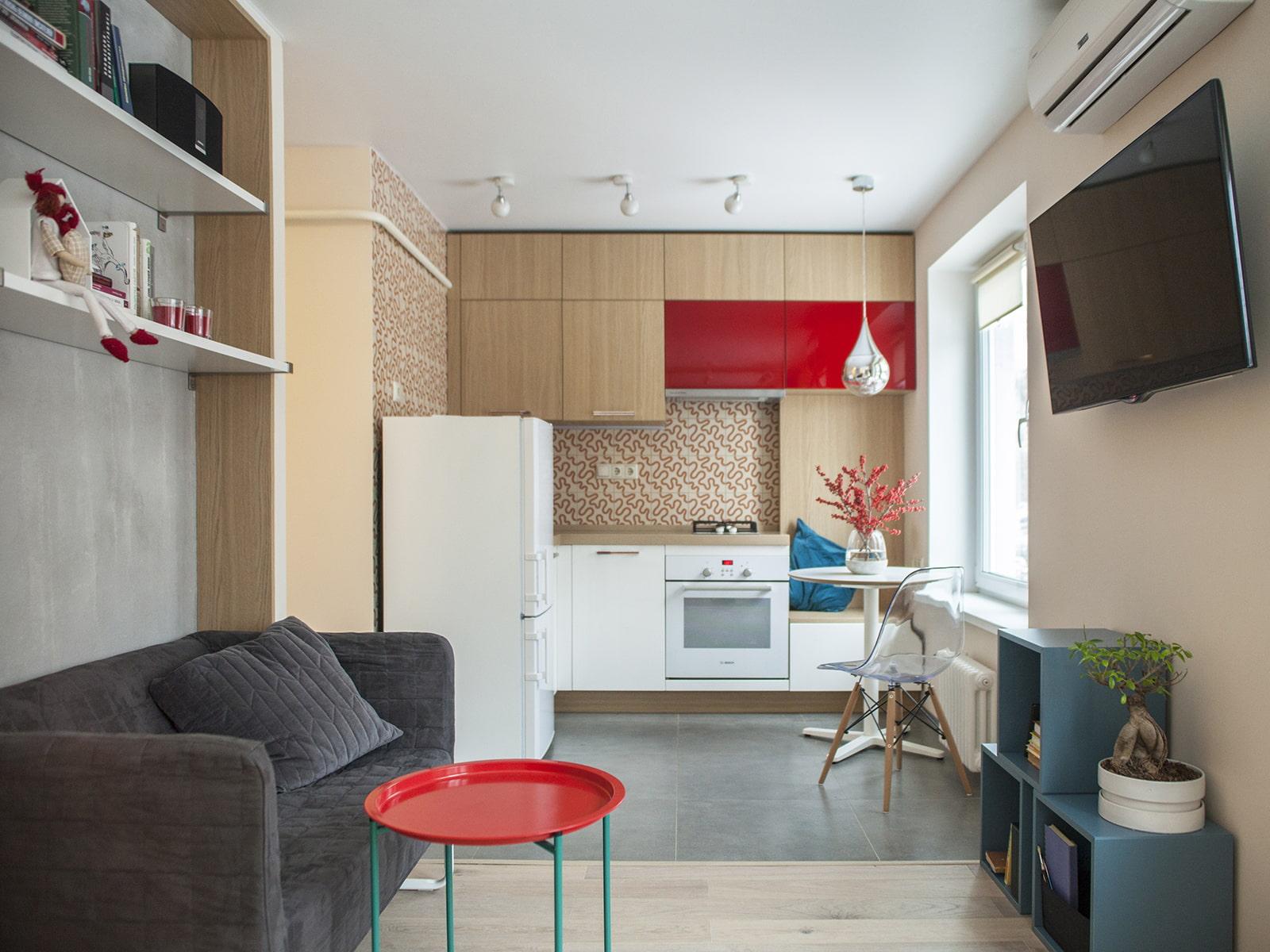 кухня 15 кв м с диваном фото