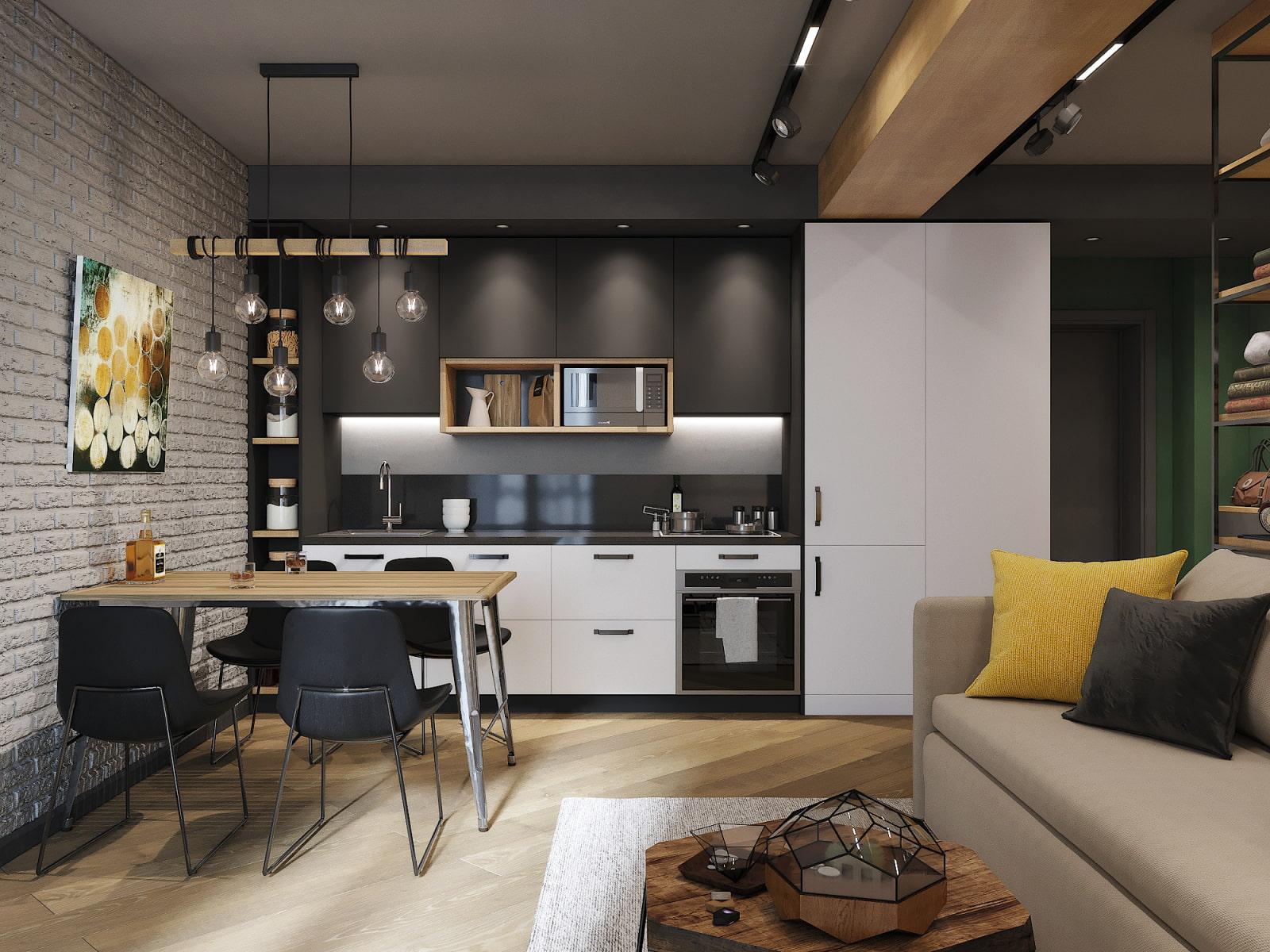 кухня 15 кв м с диваном идеи декор