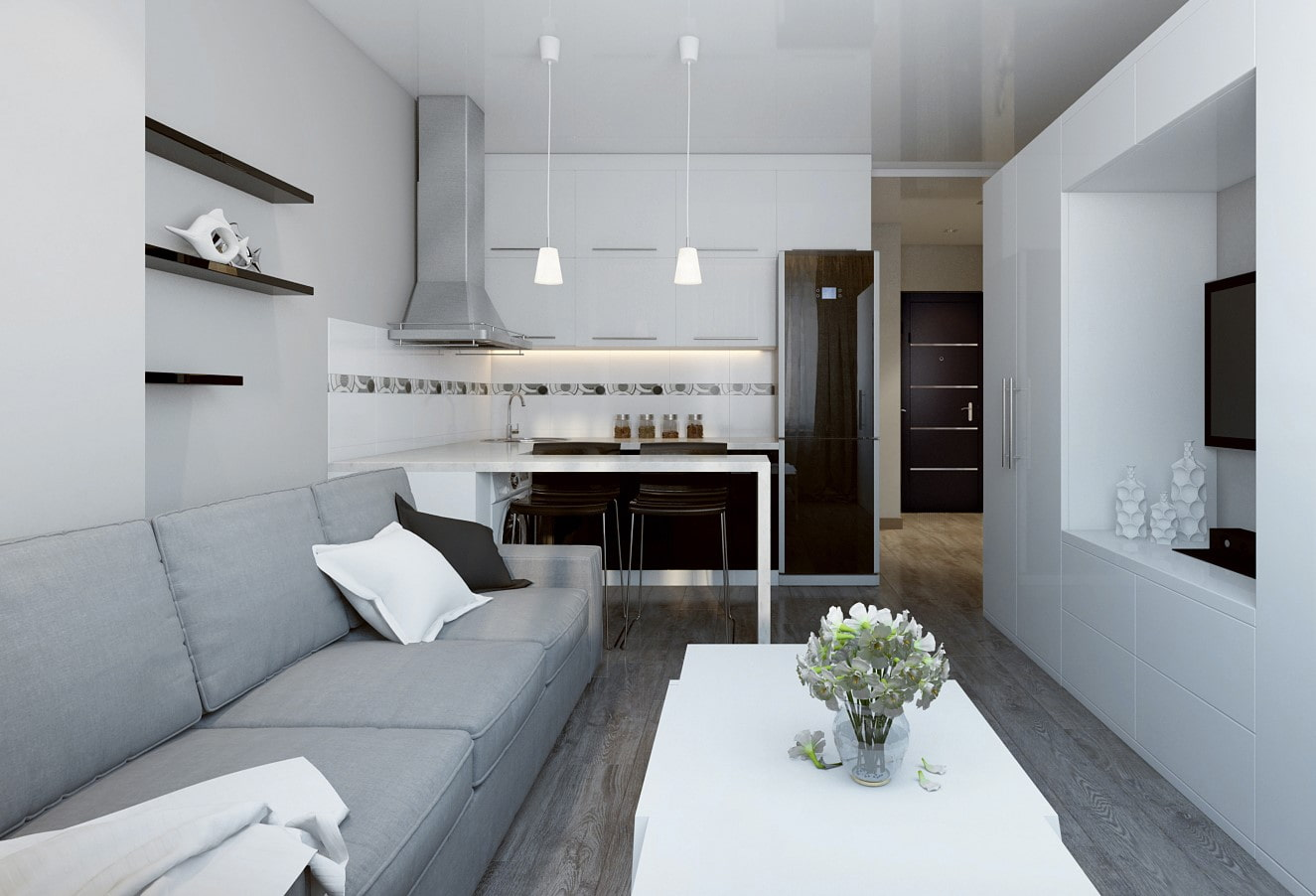 кухня 15 кв м с диваном идеи дизайн