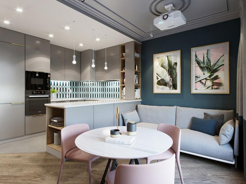 кухня 15 кв м с диваном идеи фото