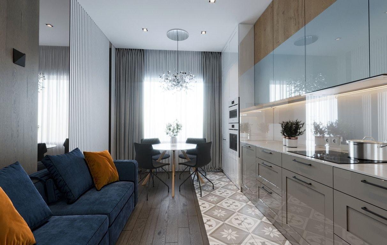 кухня 15 кв м с диваном идеи