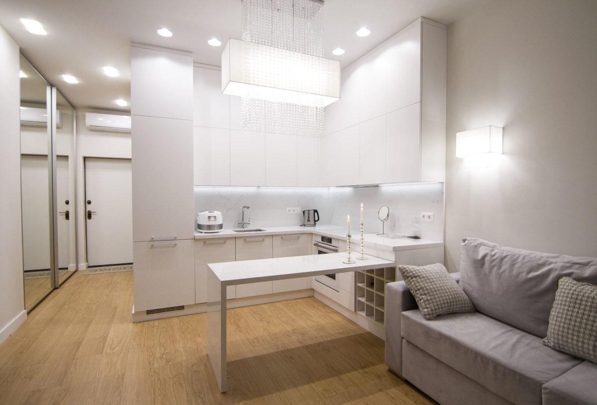 кухня 15 кв м с диваном интерьер фото