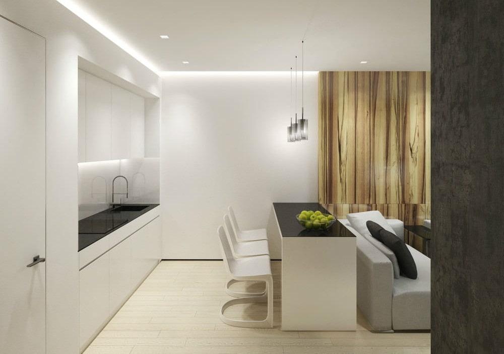 кухня 15 кв м с диваном интерьер
