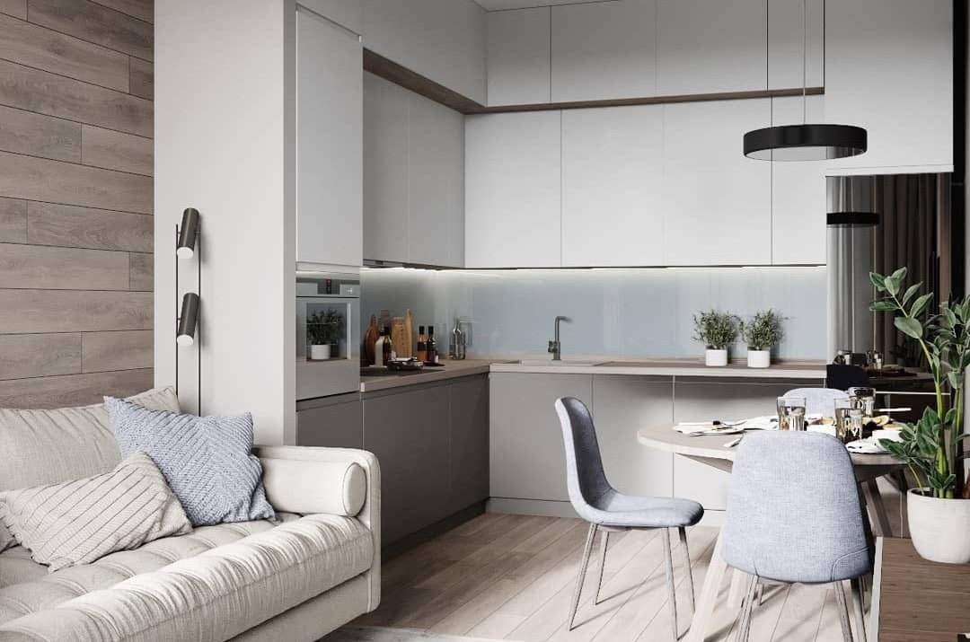кухня 15 кв м с диваном