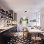 кухня 15 кв метров с диваном фото