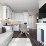 кухня 15 кв метров с диваном оформление