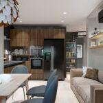кухня 15 кв метров с диваном фото оформление