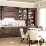 кухня коричневая