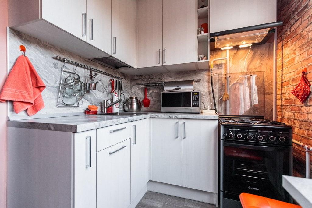 кухня 6 кв м угловая