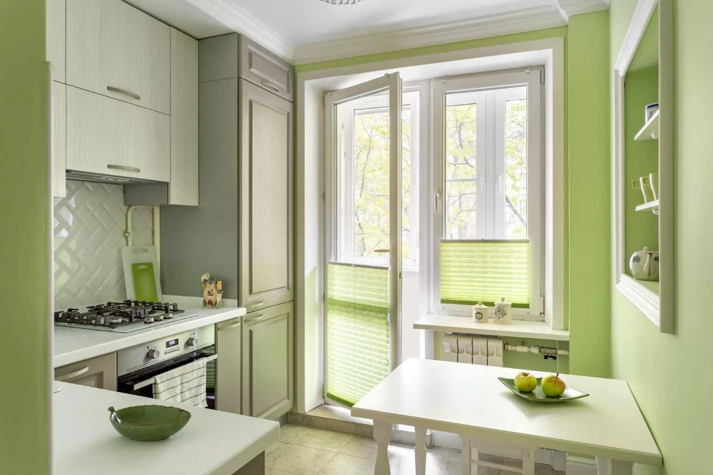 кухня 6 кв м с балконом