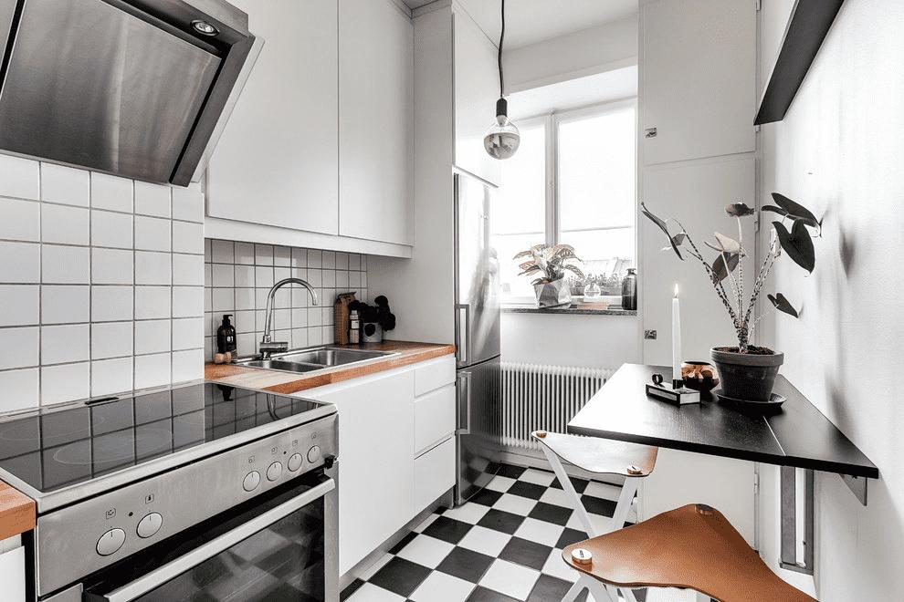 кухня 6 кв м линейная