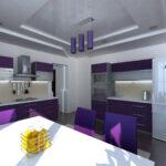 кухня фиолетовый