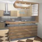 кухня из гипсокартона декор идеи