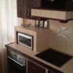 кухня из гипсокартона оформление фото