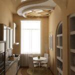 кухня из гипсокартона варианты фото