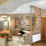 кухня из гипсокартона идеи фото