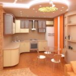 кухня из гипсокартона фото идеи
