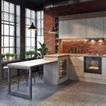 кухонный гарнитур для просторного лофта