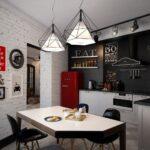 кухонный гарнитур в дизайне лофта