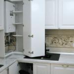 кухня с газовой колонкой оформление