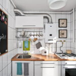 кухня с газовой колонкой интерьер