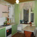 кухня с газовой колонкой интерьер фото