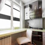 кухня с газовой колонкой идеи интерьер