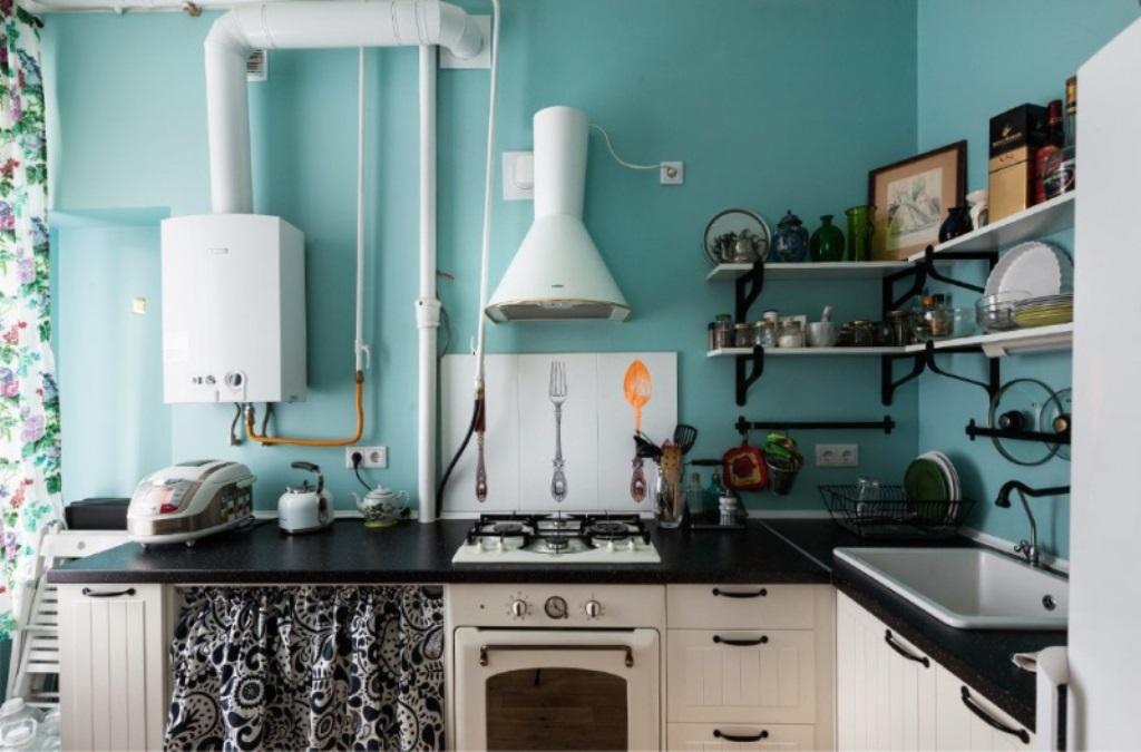 кухня с газовым котлом фото