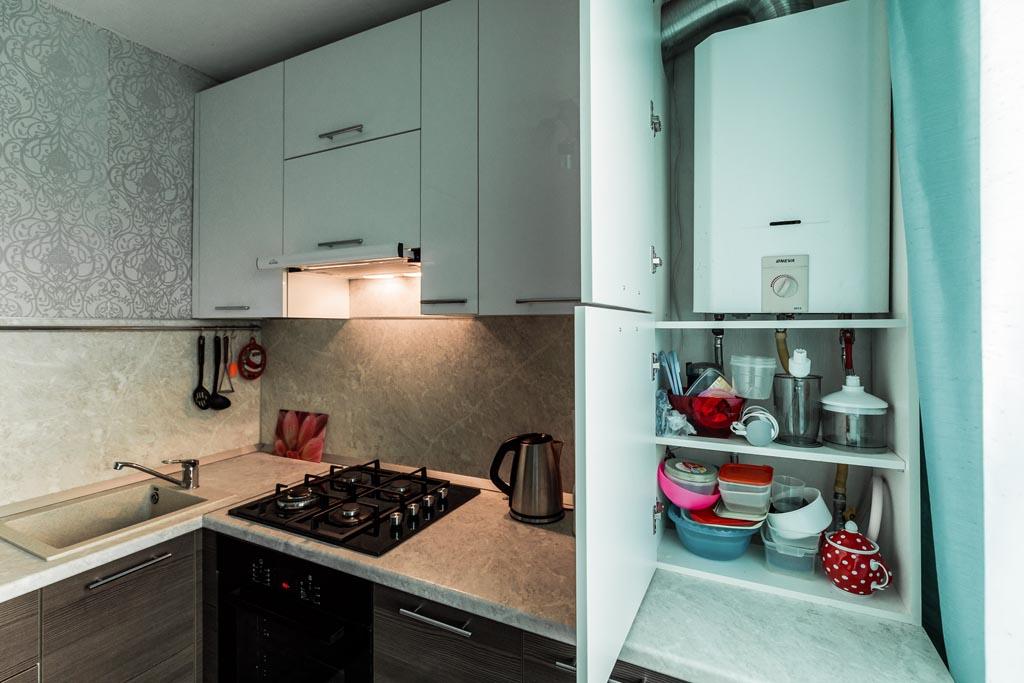 кухня с газовым котлом дизайн