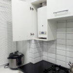 кухня с газовым котлом фото интерьер