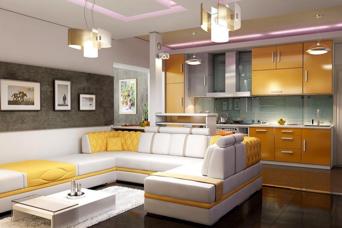 кухня-гостиная в интерьере