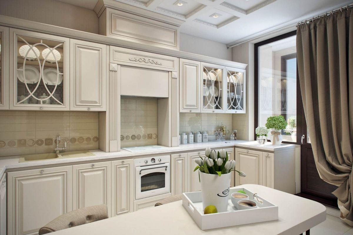 кухонные гарнитуры неоклассика