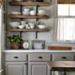 полка прованс на кухню деревянная