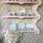 полка прованс на кухню розовая
