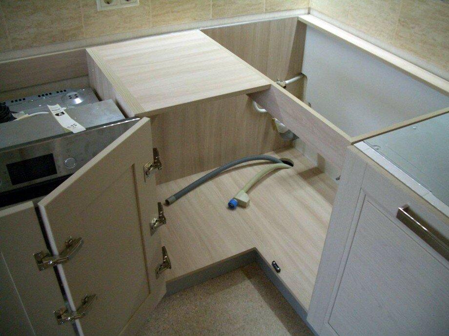 кухонная мойка угловая фото
