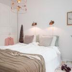 лампы в спальне над кроватью фото интерьера